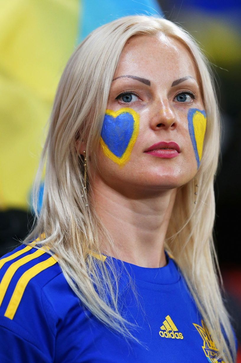 Beautiful soccer fans at Euro 2012