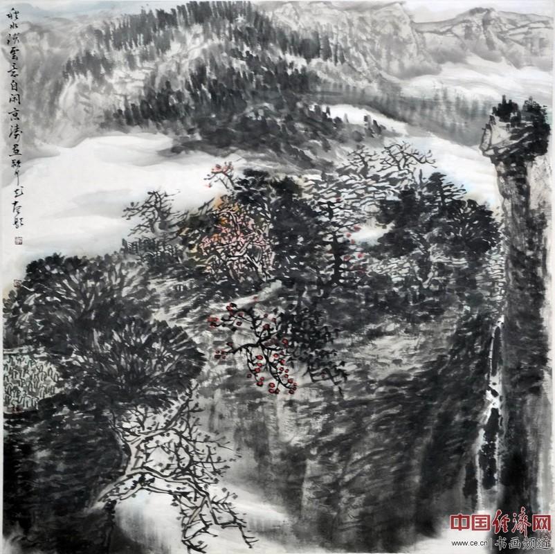 著名山水画家雷京涛国画作品欣赏(组图)