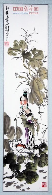 金陵画坛_梁永和国画红楼梦中人金陵十二钗作品局部放大图: