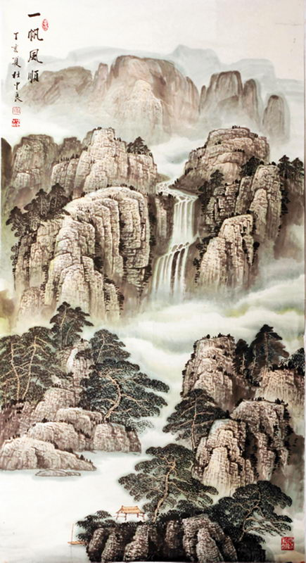 杜中良著名山水画家国画作品选中国经济网 国家经济门户
