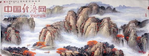 杜中良著名山水画家国画作品