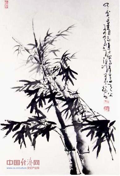 陈渭国画作品