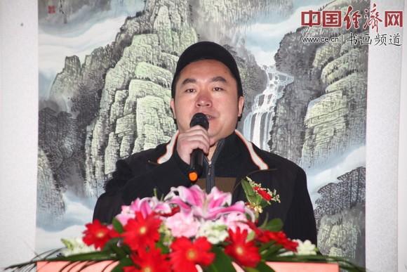 中国传统文化促进会主任郎王在开幕式上致辞 中国经济网记者李冬阳摄