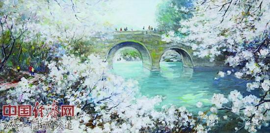 《杨公堤春色》2011年吕洪仁作