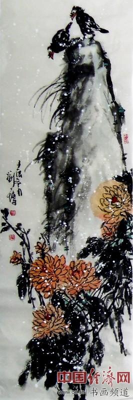 画家刘一博花鸟画作品